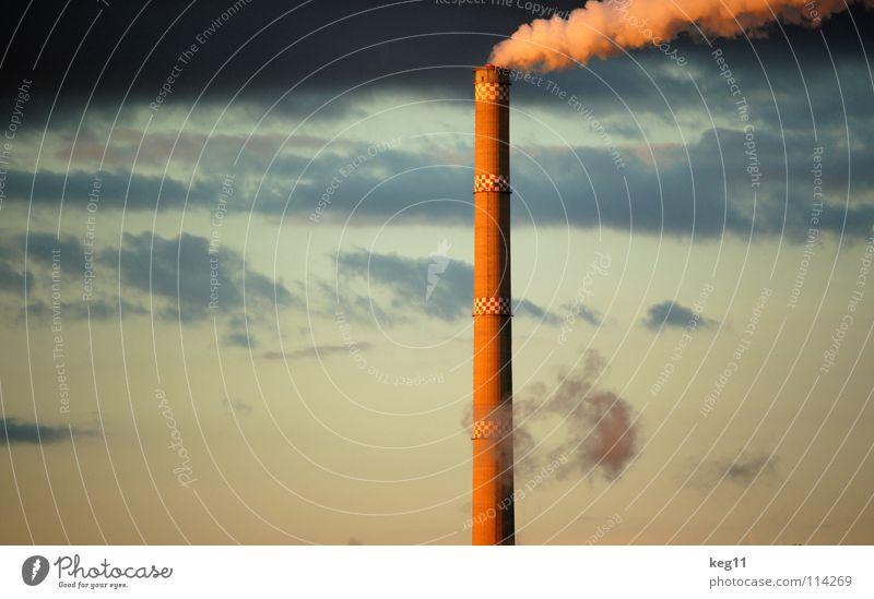 Industrie[kultur] Chemnitz Sachsen Schornstein Kultur Rauch Stadtwerke Umwelt Wolken Elektrizität Sonnenuntergang Himmel Technik & Technologie Energiewirtschaft