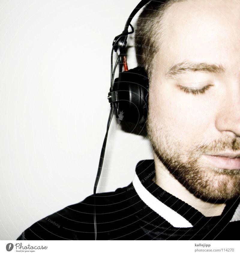 feel Mann Freude Auge Erholung Musik Tod Gefühle Haare & Frisuren Stil Denken träumen Mund Nase verrückt schlafen Coolness