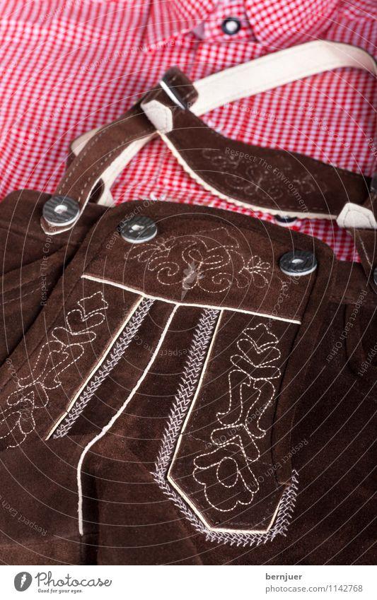 Sepploutfit Dekoration & Verzierung Oktoberfest Mode Bekleidung Hemd Hose Leder Tradition Bayerisch Tracht kariert Hirschleder Kostüm rustikal Trachtenhemd kurz