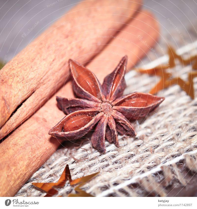 Zimt und Anis Weihnachten & Advent Kochen & Garen & Backen Stern (Symbol) Kräuter & Gewürze Jahreszeiten Postkarte nah Duft Decke Geschmackssinn aromatisch