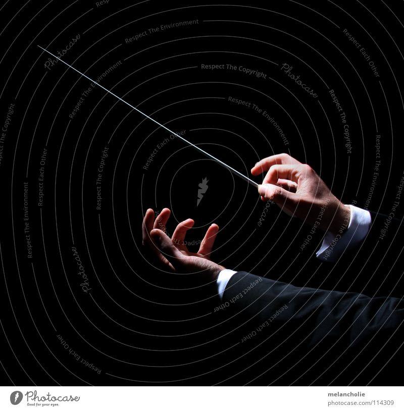 Dirigent II Hand Erholung Gefühle Feste & Feiern Musik Finger lernen hören Konzert harmonisch Bach Publikum Rhythmus singen Ton Musiknoten
