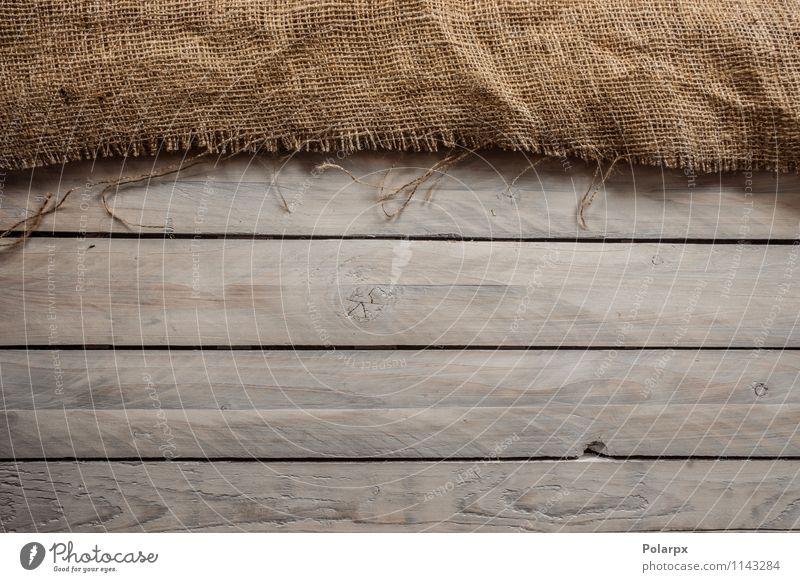 Holz mit Textil Design Schreibtisch Tisch Tapete Stoff alt dreckig natürlich retro braun hölzern Hintergrund Netz Holzplatte Leinwand Sack Raum Sackleinen