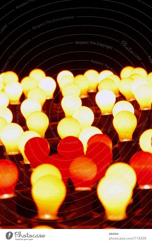 leuchtende nacht Licht Nacht Glühbirne Lampe Elektrizität mehrfarbig Elektrisches Gerät Technik & Technologie Energiewirtschaft hell Idee Beleuchtung