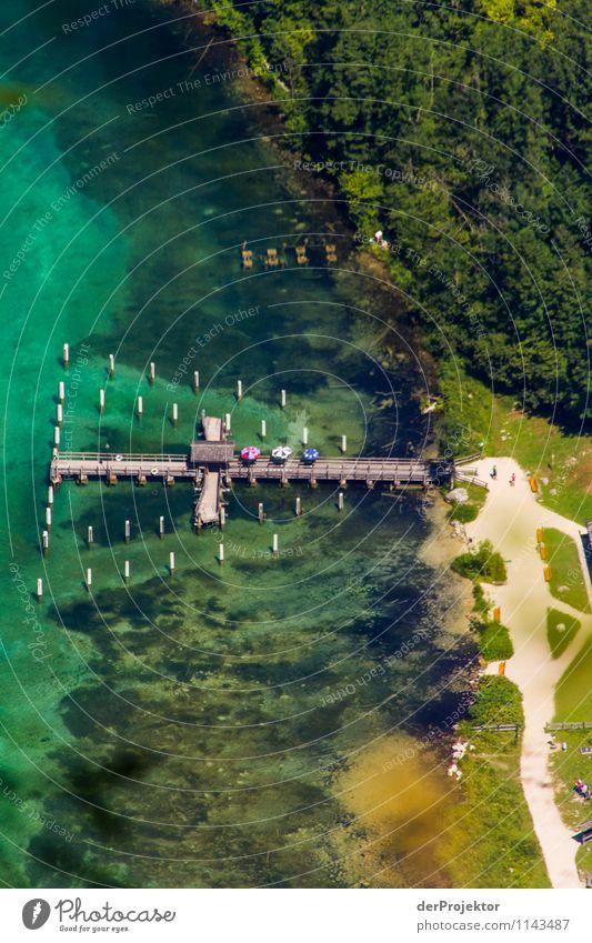 Anlegestelle Salet am Königssee Natur Ferien & Urlaub & Reisen Landschaft Strand Umwelt Berge u. Gebirge Architektur Gefühle Wiese Tourismus wandern Verkehr Ausflug Brücke Abenteuer Coolness