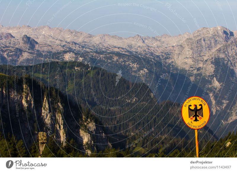 Wo Deutschland anfängt.... Natur Ferien & Urlaub & Reisen Pflanze Sommer Landschaft Wald Umwelt Berge u. Gebirge Gefühle Tourismus Schilder & Markierungen