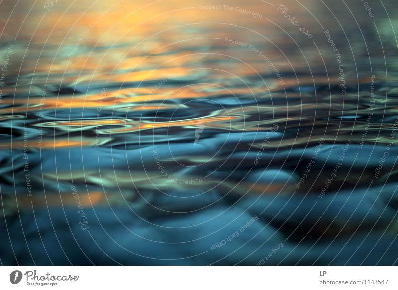 L3 Ferien & Urlaub & Reisen blau Farbe Wasser Meer ruhig Ferne kalt gelb Wärme träumen orange Zufriedenheit leuchten gold Beginn