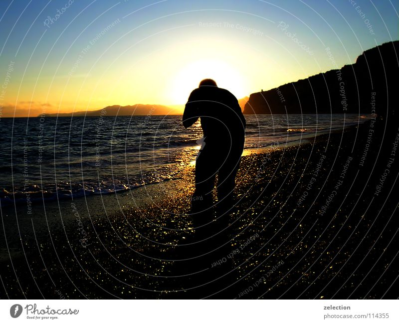 hinter den kulissen Himmel Sonne Meer Sommer Wärme Italien Abenddämmerung Fotografieren