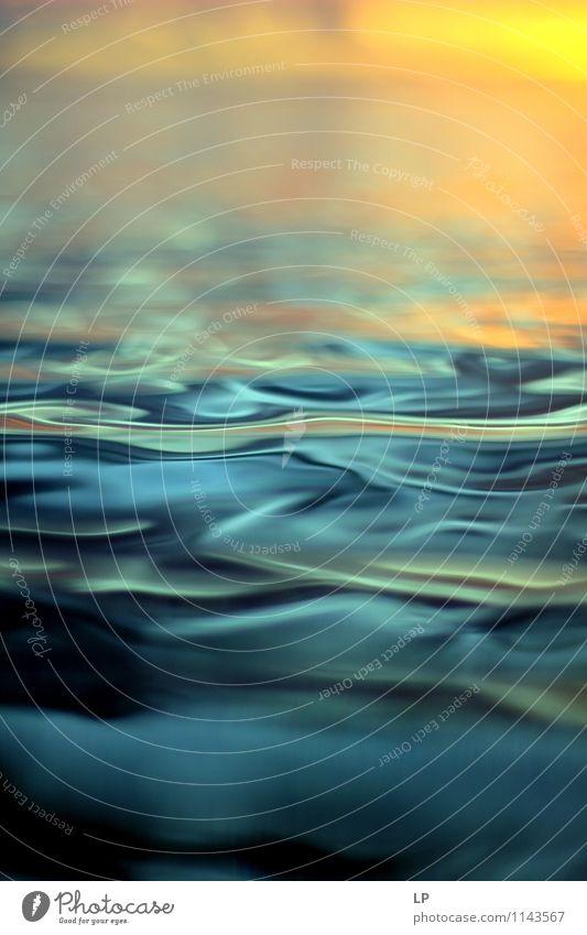 L1 blau Meer ruhig Ferne gelb Wärme Horizont träumen orange Zufriedenheit frisch gold Fröhlichkeit einfach Warmherzigkeit Sauberkeit