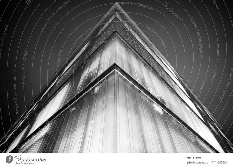 wer im Glashaus sitzt Himmel Nachthimmel Stadt Haus Hochhaus Parkhaus Bauwerk Gebäude Architektur Fassade eckig hell Freiburg im Breisgau Nachtaufnahme