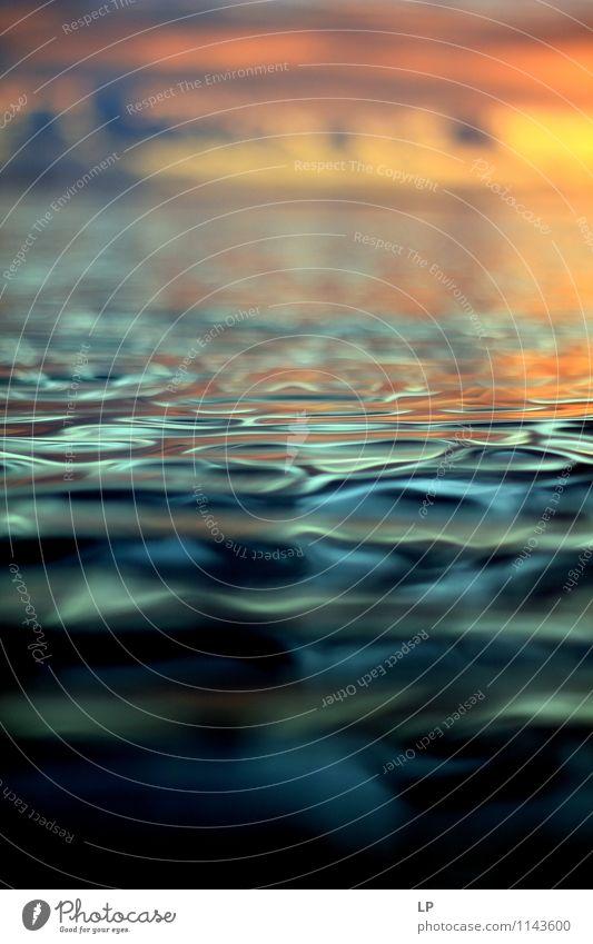 L2 Sonnenaufgang Sonnenuntergang Schönes Wetter Meer leuchten Coolness exotisch Ferne Flüssigkeit maritim positiv Wärme gelb orange silber türkis Lebensfreude