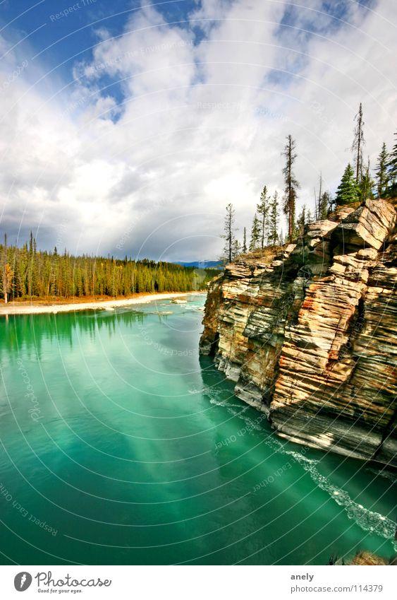 Turquoise Natur Wasser blau Einsamkeit Herbst Berge u. Gebirge See Luft Felsen Aussicht Klarheit türkis Kanada atmen Nationalpark beeindruckend