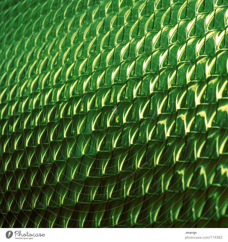 Verdor Strukturen & Formen Oberfläche Muster Glätte Geometrie Farbverlauf Verlauf glänzend Bruch Hintergrundbild Ecke Zeile Gift grün dunkelgrün weiß schwarz