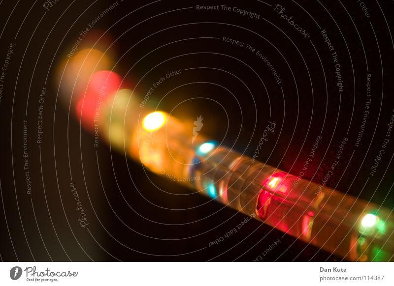 Besinnlichkeit Weihnachten & Advent blau grün gelb Wärme Stimmung Lampe orange Feste & Feiern Elektrizität weich tief Säule Überraschung Regenbogen elektrisch