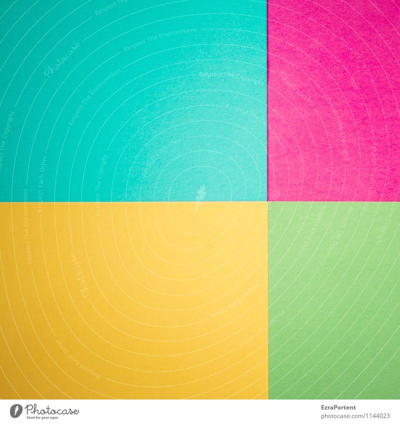 T|v|g|G blau grün Farbe gelb Linie hell Design ästhetisch Papier Grafik u. Illustration violett graphisch türkis Geometrie Basteln Verschiedenheit
