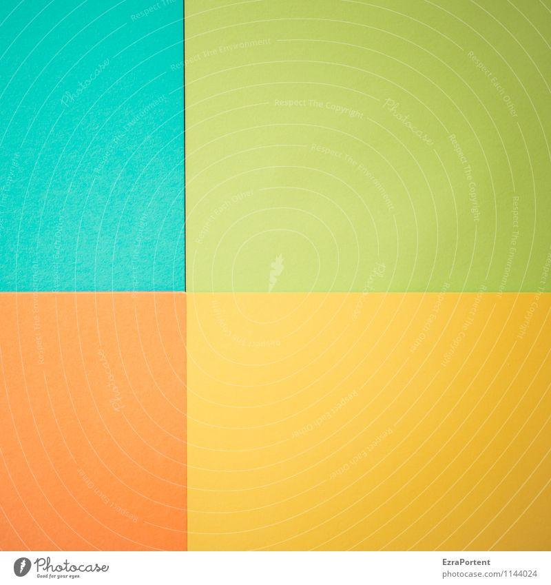 t|G|G|o blau grün Farbe gelb Linie hell orange Design ästhetisch Grafik u. Illustration türkis graphisch Geometrie Verschiedenheit Basteln Fuge