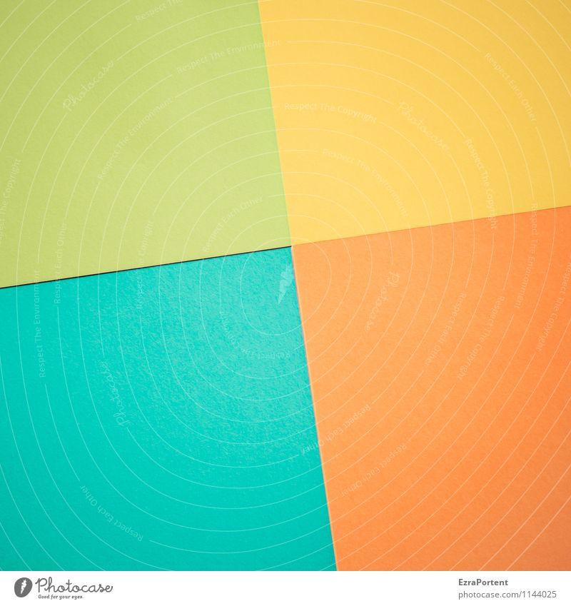 g\g/O\T Design Basteln Linie ästhetisch hell blau mehrfarbig gelb grün orange türkis Farbe Grafik u. Illustration Strukturen & Formen Geometrie gerade Neigung