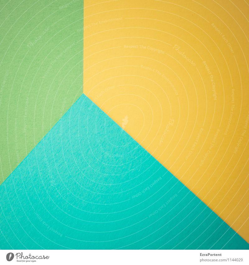 g|G\t Design Basteln Linie ästhetisch hell blau gelb grün türkis Farbe Grafik u. Illustration Grafische Darstellung graphisch Papier Trennlinie