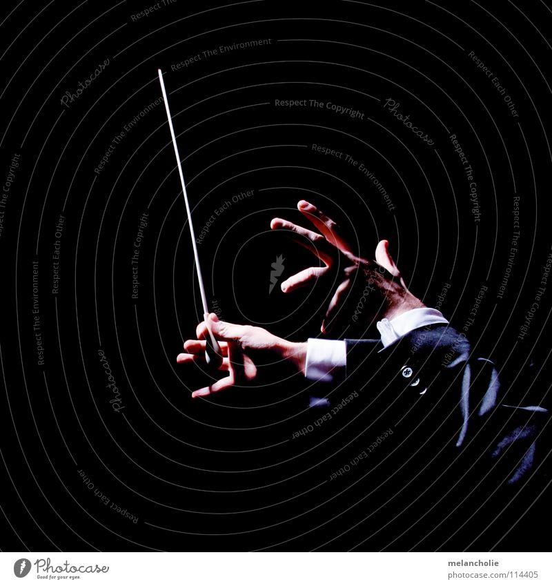 Dirigent III Hand Erholung sprechen Gefühle Musik Feste & Feiern Finger lernen Musikinstrument hören Konzert Publikum harmonisch Musiknoten Bach singen