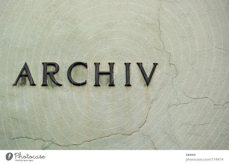 Das Archiv Schriftzeichen Buchstaben Sammlung Symbole & Metaphern aufbewahren