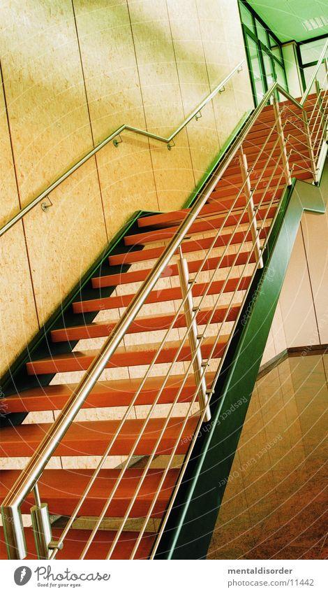 Treppe Holz Häusliches Leben Stahl Geländer