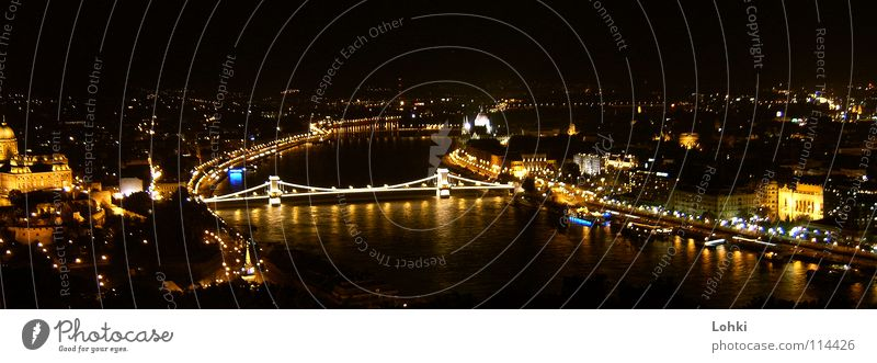 Buda-Nights Stadt Brücke Fluss Verbindung glühen Budapest