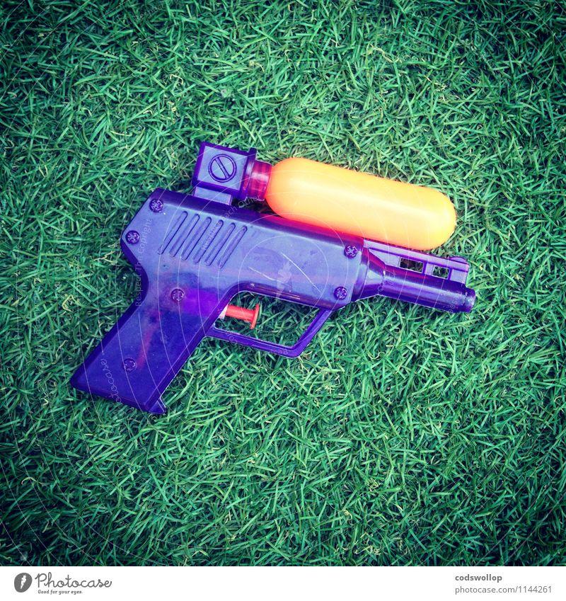 ACME Q-38XL Disintegrator blau grün Freude orange Kunststoff Spielzeug Kunstrasen Wasserpistole