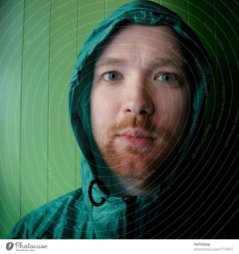 greenhorn Mann grün Freude Auge Erholung Tod Gefühle Haare & Frisuren Stil Denken träumen Regen Mund Nase Insel verrückt