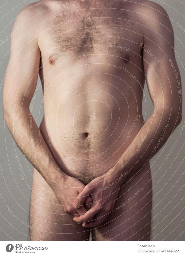Guckloch Mensch Jugendliche nackt schön Hand Erotik Junger Mann 18-30 Jahre Erwachsene natürlich maskulin Behaarung stehen ästhetisch Sex dünn