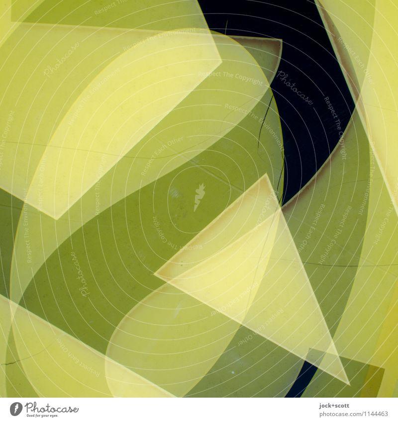 kryptisch Stil Design Typographie Kunststoff Ziffern & Zahlen Linie Dreieck drehen eckig trashig viele gelb chaotisch komplex Surrealismus Irritation