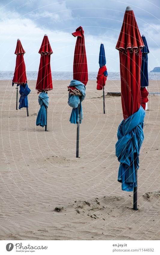 heute geschlossen Ferien & Urlaub & Reisen Tourismus Sommer Sommerurlaub Strand Meer Sand Himmel Gewitterwolken Horizont Frühling Herbst Klima Wetter