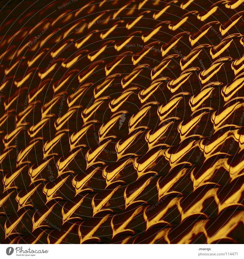 Kupfer schwarz gelb dunkel hell braun orange glänzend Glas Hintergrundbild gold Ecke obskur Reihe Geometrie Fensterscheibe