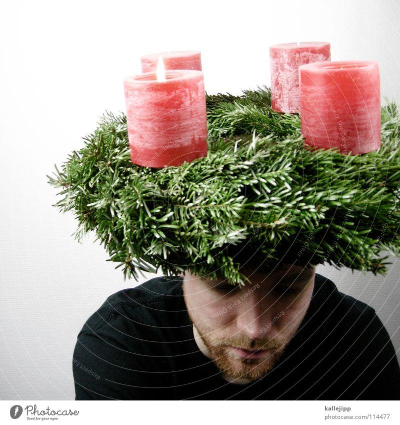 last christmas Mann Weihnachten & Advent weiß grün rot Winter Gesicht schwarz Farbe Schnee Gefühle Kopf Lampe Religion & Glaube Feste & Feiern Mund