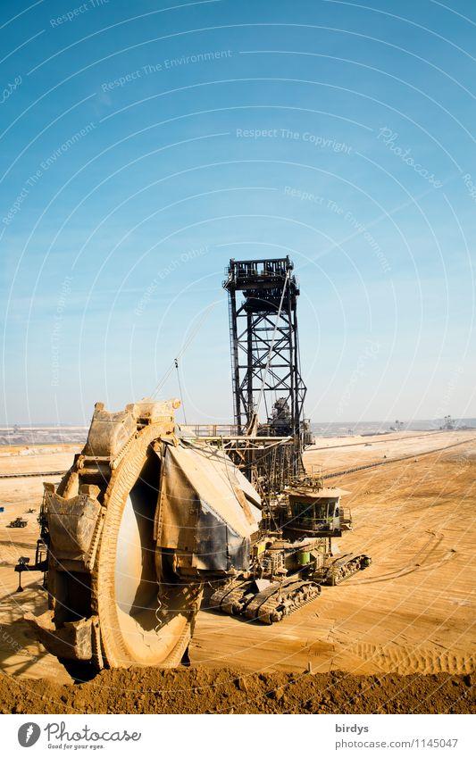 Garzweiler - sie baggern immernoch Arbeit & Erwerbstätigkeit Industrie Energiewirtschaft Maschine Bergbau Braunkohlenbagger Braunkohlentagebau Erde