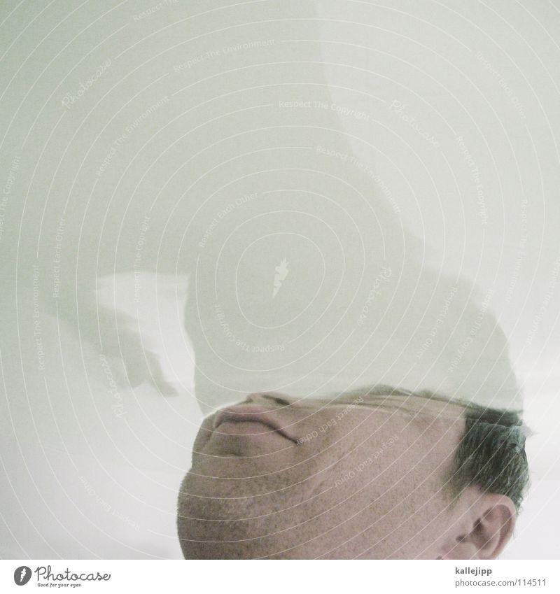 geboren kalt abgebrüht Bad liquide Dimension Rauschmittel Illusion Dickkopf stur Hölle Eingang Schlag Wasseroberfläche Oberflächenspannung Mann Kopfschmerzen