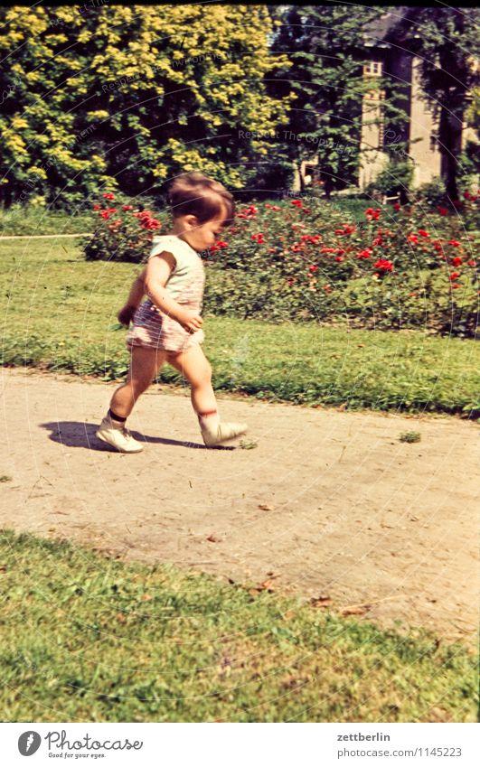 Thomas, 1966 Mensch Kind Natur Sommer Sonne Landschaft Gesicht Wege & Pfade gehen Familie & Verwandtschaft Mode Park wandern laufen Textfreiraum Baby