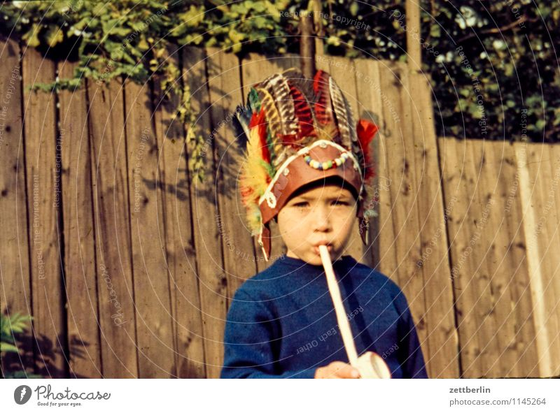 Thomas als Indianer Familie & Verwandtschaft verwandt Familienausflug Familienglück Vergangenheit Fünfziger Jahre Sechziger Jahre Mensch Mode Textfreiraum