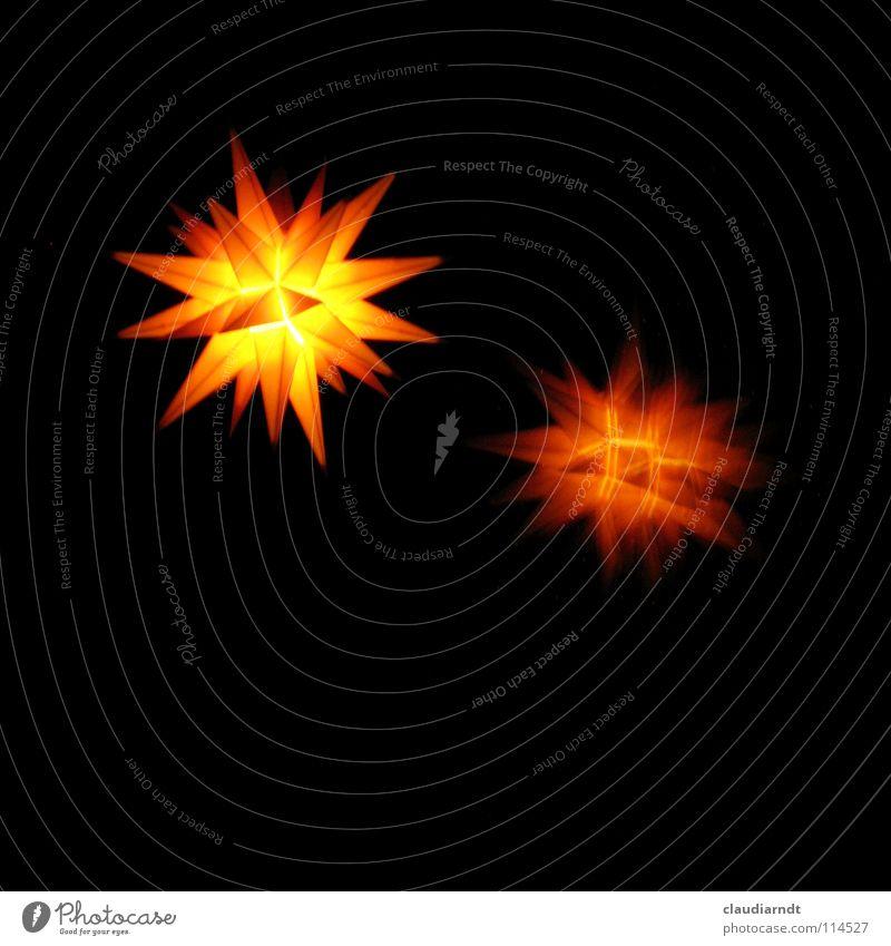 Fensterstern Weihnachten & Advent schwarz gelb dunkel Fenster Wärme Beleuchtung Stern (Symbol) einfach Dekoration & Verzierung Physik Nacht Israel Symbole & Metaphern Geometrie
