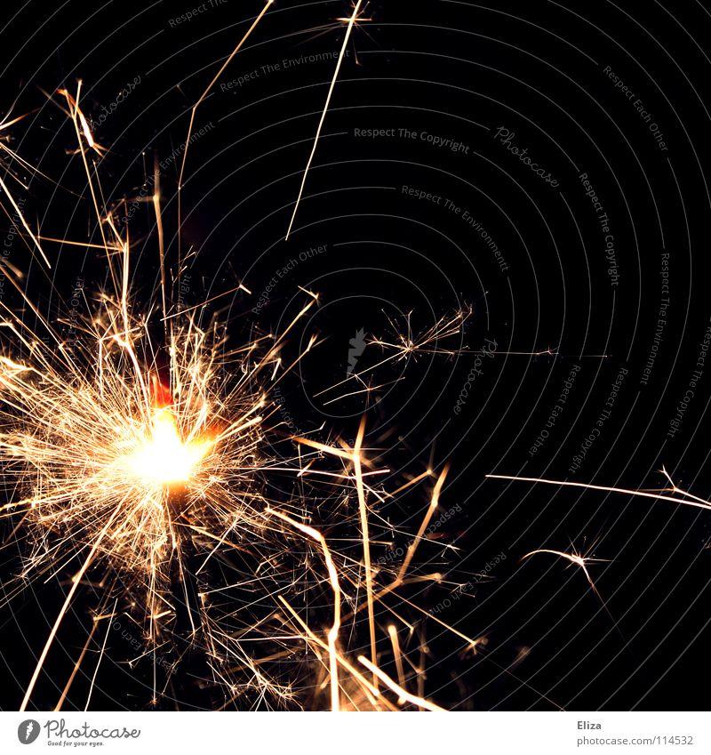 Brrzzrzzbrz glühen Silvester u. Neujahr Wunderkerze dunkel Kerze Elektrizität Party schön brennen Glut Licht Freizeit & Hobby Funken Brand Feuerwerk Tanne