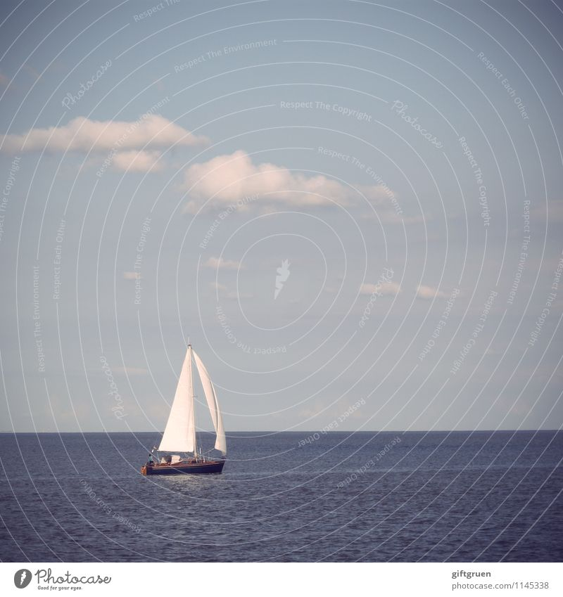 weltenbummler Umwelt Natur Landschaft Urelemente Wasser Himmel Wolken Sonne Sommer Schönes Wetter Wellen Meer Freude Segeln Freizeit & Hobby Segelboot Sport