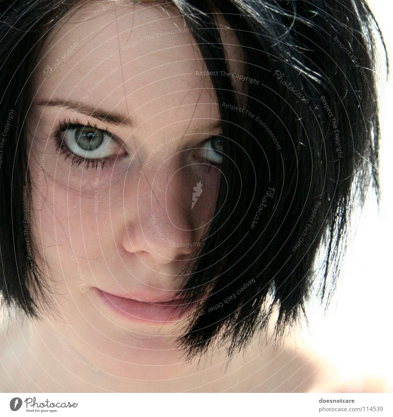 Fairies Wear Boots. Frau Mensch Jugendliche schön schwarz feminin Haare & Frisuren Kopf Erwachsene Beautyfotografie modern Anschnitt schwarzhaarig Haarsträhne