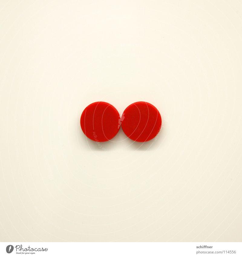 Cocktailtomaten, korpulierend Magnet Kreis rund rot Zusammensein Ehe dual Doppelpunkt Zusammenhalt Magnettafel Schilder & Markierungen Punkt beieinander