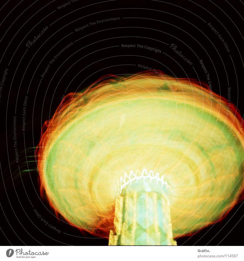the DOM Series Jahrmarkt Kettenkarussell drehen Geschwindigkeit Verwirbelung Licht Lichtgeschwindigkeit Karussell Glühbirne Lampe Lichtstreifen