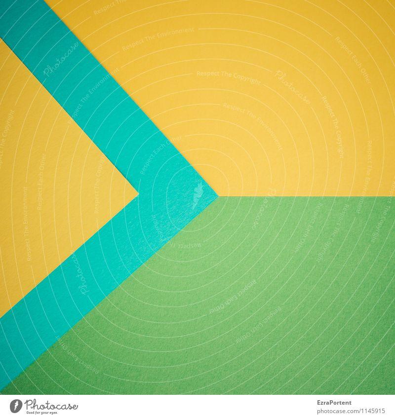 g>t>G-G Design Basteln Zeichen Linie Pfeil ästhetisch blau gelb grün türkis Farbe Grafik u. Illustration richtungweisend graphisch Grafische Darstellung Spitze