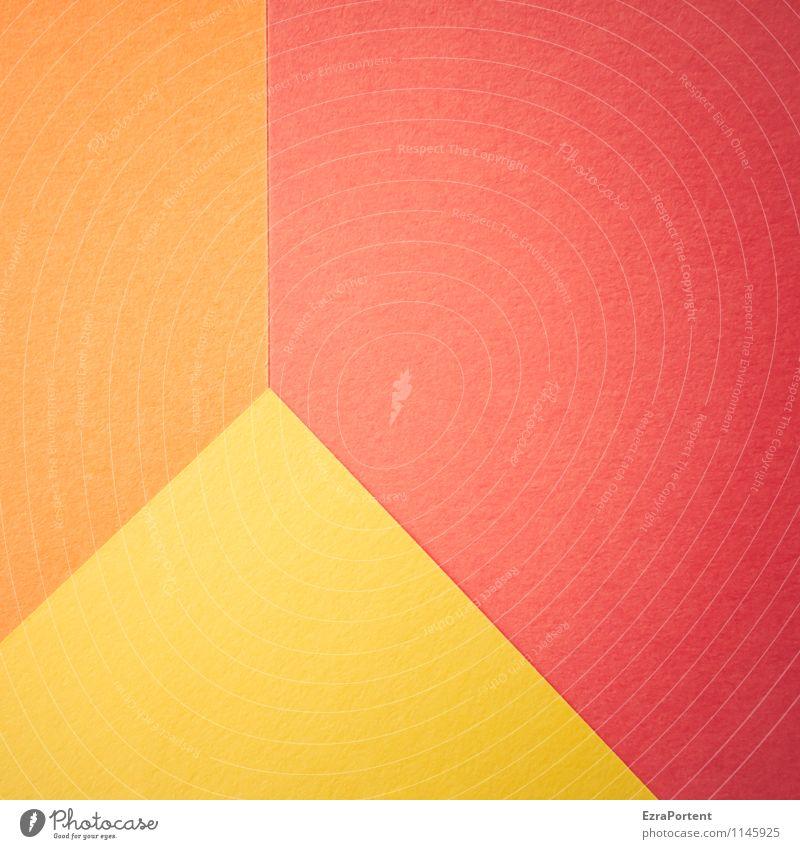 Weltkulturerbe III Farbe rot gelb Linie hell orange Design ästhetisch Spitze Ecke Papier Grafik u. Illustration graphisch diagonal Geometrie gerade