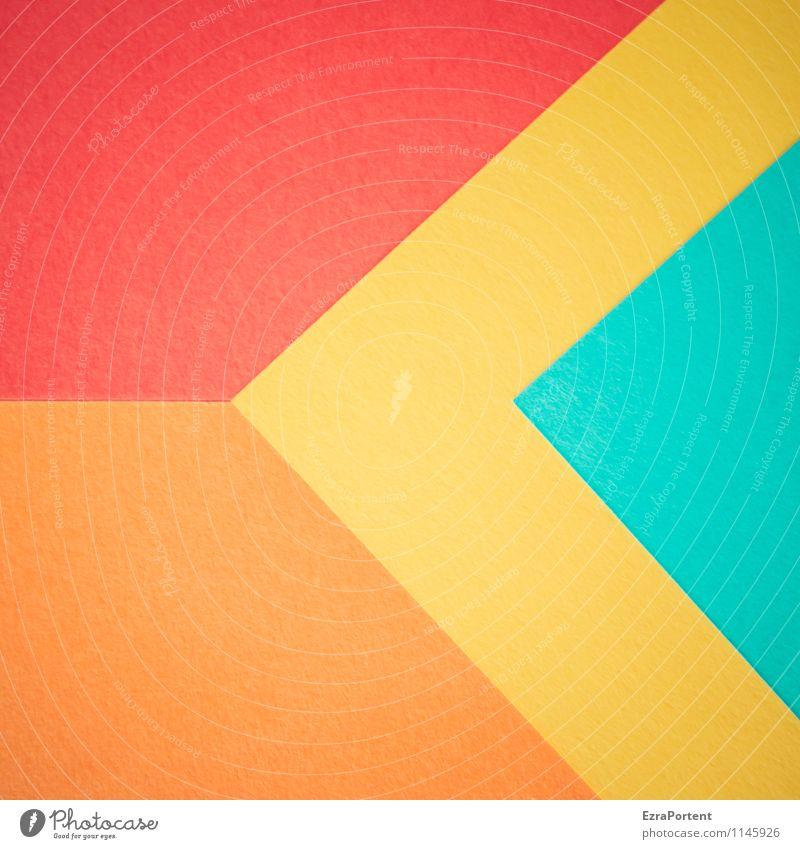 R/g/t\g\O Design Basteln Linie ästhetisch hell blau mehrfarbig gelb orange rot türkis Farbe Grafik u. Illustration graphisch Grafische Darstellung Geometrie