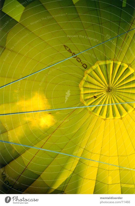 heiße Luft Ballone gelb Luftverkehr Flamme Brand