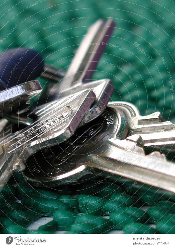 Schlüssel grün schließen Häusliches Leben Kreis Metall Burg oder Schloss