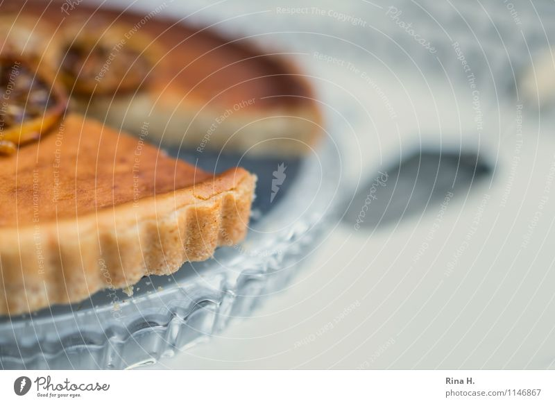 Zitronen-Ricotta-Tarte IV süß lecker Kuchen Tortenplatte Tortenheber