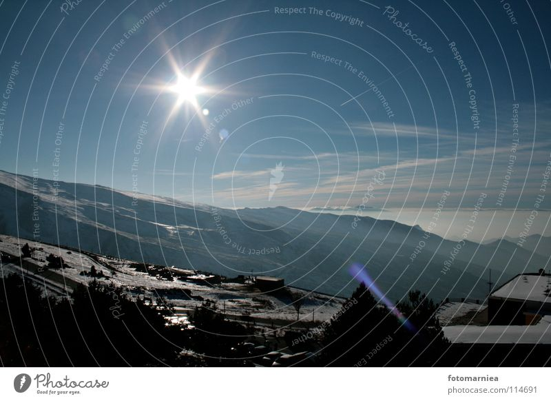 sternenhimmel. Nevada Winter sierra Berge u. Gebirge Himmel Freiheit Sonne Stern (Symbol)