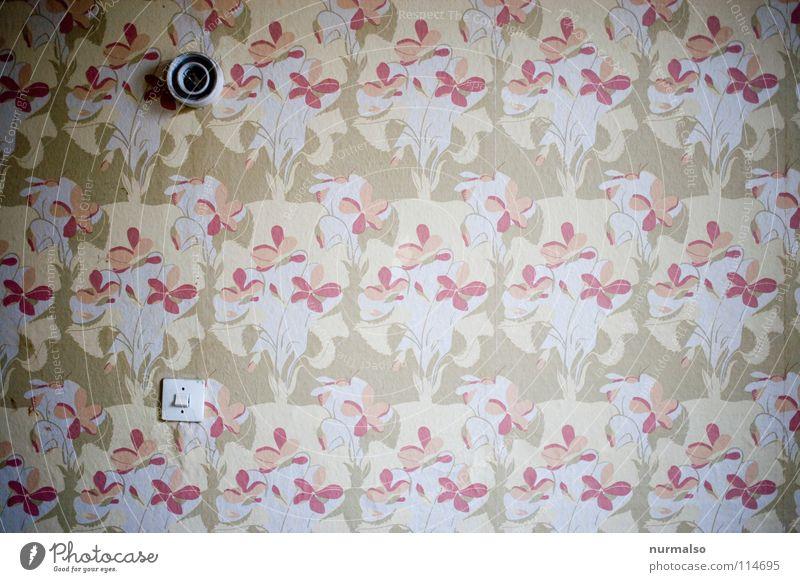 eines für über 100.000 ! Tapete Raum Schmuck Schalter Licht Stil Lampe Sockel Keramik elektronisch Elektrizität fließen Blume Muster Design kultig